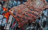 Holzkohlegrill Fleisch Steak